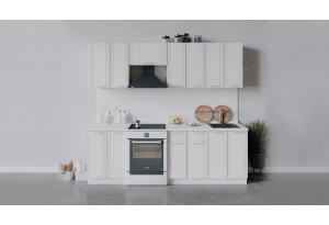 Кухонный гарнитур «Ольга» длиной 240 см (Белый/Белый)