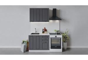 Кухонный гарнитур «Лина» длиной 100 см (Белый/Графит)
