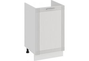 Шкаф напольный с одной дверями (под накладную мойку) «Ольга» (Белый/Белый)