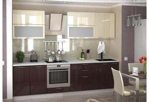 Кухня Ксения 2,8 м (модульная система), ваниль/шоколад