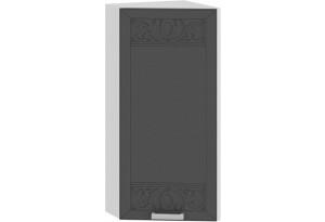 Шкаф навесной торцевой «Долорес» (Белый/Титан)