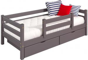 Вариант 4 Кровать Соня Лаванда с защитой по центру