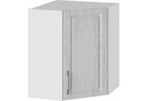 Шкаф навесной угловой с углом 45° (ПРОВАНС (Белый глянец/Санторини светлый))