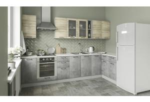 Кухня Лофт угловая 3,2 х 1,4 м (модульная система)