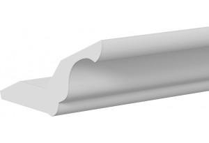 Карниз кухонный МДФ (длина=2.2м) (СКАЙ (Белоснежный софт))