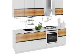 Кухонный гарнитур длиной - 240 см (со шкафом НБ) Фэнтези (Вуд)