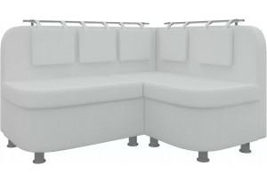 Кухонный угловой диван Уют 2 Белый (Экокожа)