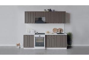 Кухонный гарнитур «Бьянка» длиной 240 см (Белый/Дуб серый)
