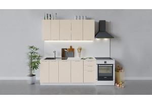 Кухонный гарнитур «Весна» длиной 180 см (Белый/Ваниль глянец)