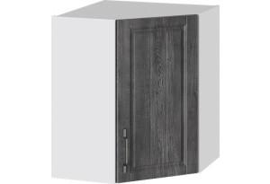 Шкаф навесной угловой с углом 45° (ПРОВАНС (Белый глянец/Санторини темный))