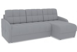 Диван угловой правый «Аспен Slim Т1» (Poseidon Grey (иск.замша) серый)