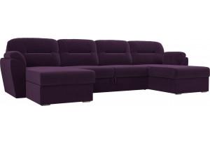 П-образный диван Бостон Фиолетовый (Велюр)