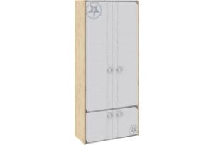 Шкаф для одежды «Мегаполис» Бунратти/Белый с рисунком