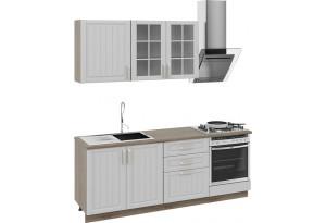 Кухонный гарнитур длиной - 210 см (со шкафом НБ) Дуб Сонома трюфель/Крем
