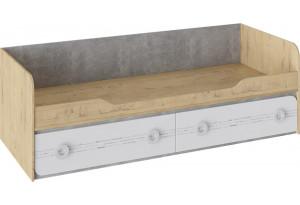 Кровать с 2 ящиками «Мегаполис» Бунратти/Белый с рисунком