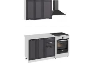 Кухонный гарнитур «Ольга» стандартный набор (Белый/Графит)