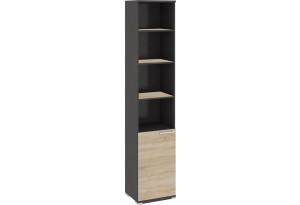 Шкаф для документов с нишей и 1-й дверью «Успех-2» Венге Цаво, Дуб Сонома
