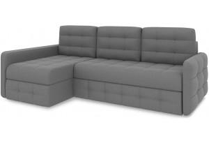 Диван угловой левый «Райс Slim Т2» (Neo 07 (рогожка) светло-серый)