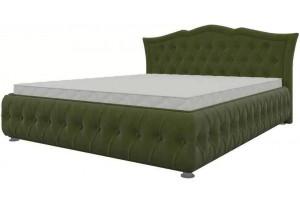 Интерьерная кровать Герда Зеленый (Микровельвет)
