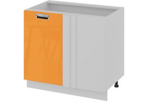 Шкаф напольный с планками для формирования угла (левый) (БЬЮТИ (Оранж))