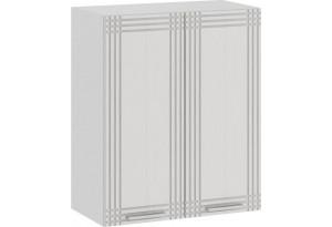 Шкаф навесной c двумя дверями «Ольга» (Белый/Белый)