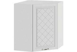 Шкаф навесной угловой «Бьянка» (Белый/Дуб белый)