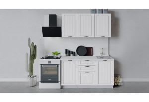 Кухонный гарнитур «Лина» длиной 150 см (Белый/Белый)