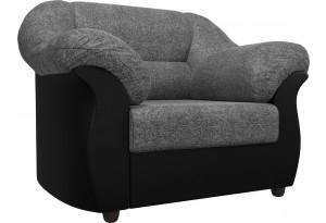 Кресло Карнелла Серый/черный (Рогожка/Экокожа)