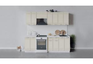 Кухонный гарнитур «Долорес» длиной 240 см (Белый/Крем)