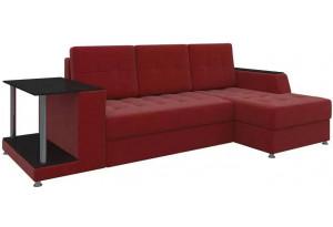 Угловой диван Атланта Красный (Микровельвет)