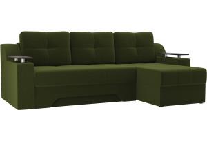 Угловой диван Сенатор Зеленый (Микровельвет)