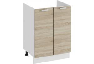 Шкаф напольный с двумя дверями (под накладную мойку) «Гранита» (Белый/Дуб сонома)