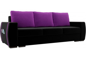 Прямой диван Брион Черный (Микровельвет)