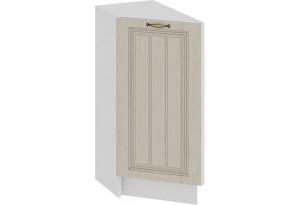 Шкаф напольный торцевой с одной дверью «Лина» (Белый/Крем)