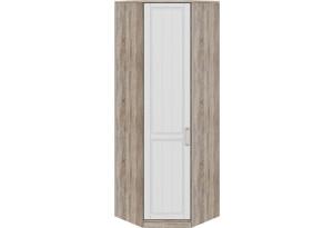 Шкаф угловой с 1-ой дверью левый «Прованс» Дуб Сонома трюфель/Крем