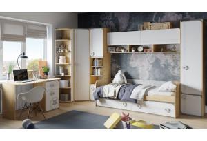 Набор детской мебели «Мегаполис» №2 Бунратти/Белый с рисунком