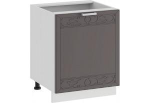 Шкаф напольный с одной дверью «Долорес» (Белый/Муссон)