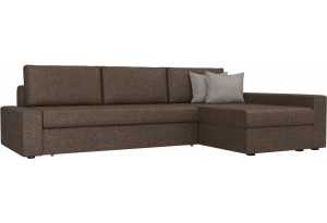 Угловой диван Версаль Коричневый (Рогожка)