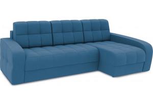 Диван угловой правый «Аспен Т2» Beauty 07 (велюр) синий