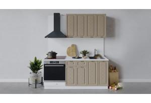 Кухонный гарнитур «Бьянка» длиной 180 см со шкафом НБ (Белый/Дуб кофе)