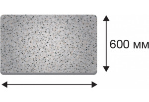 Крышка стола в размер прямая от 300 до 1500 (Дуб сонома трюфель, 40х600х1200)