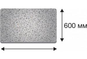 Крышка стола в размер прямая от 300 до 1500 (ЧЕРНЫЙ, 40х600х1350)