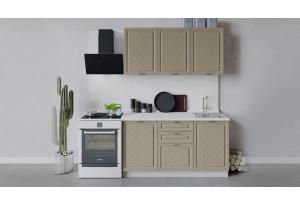 Кухонный гарнитур «Бьянка» длиной 150 см (Белый/Дуб кофе)