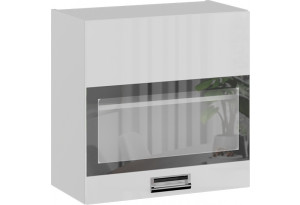 Шкаф навесной со стеклом (БЬЮТИ (Белая))
