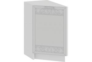 Шкаф напольный торцевой с одной дверью «Долорес» (Белый/Сноу)
