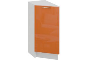 Шкаф напольный торцевой с одной дверью «Весна» (Белый/Оранж глянец)