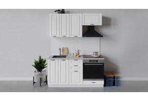 Кухонный гарнитур «Лина» длиной 160 см со шкафом НБ (Белый/Белый)