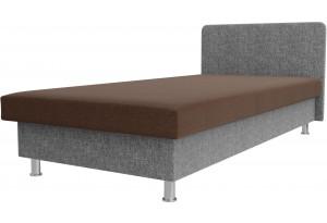 Кровать Мальта коричневый/Серый (Рогожка)