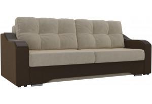 Прямой диван Браун бежевый/коричневый (Микровельвет)