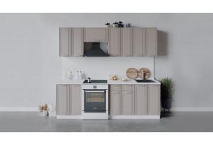 Кухонный гарнитур «Ольга» длиной 240 см (Белый/Кремовый)